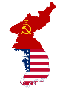 Flag_map_of_Divided_Korea_(1945_-_1950)
